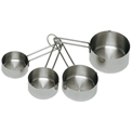 Update International Measuring Cup Set, Stainless Steel, Heavy Duty - MEA-CUP - Pkg Qty 12