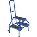 Rolling Two Step Ladder - Rubber - RLAD-2-B
