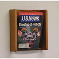 1 Pocket Acrylic & Oak Wall Display - Medium Oak