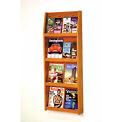 8 Magazine/16 Brochure Wall Display - Medium Oak