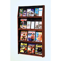 12 Magazine/24 Brochure Wall Display - Mahogany