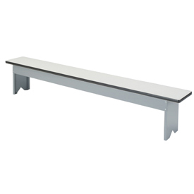 Free Standing Plastic Top Steel Locker Benches
