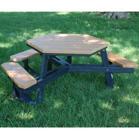 ADA Plastic/Recycled Plastic Picnic Tables- Rectangular, Square & Hexagon