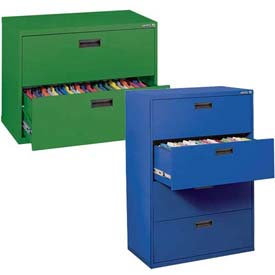 Colorful 2 & 4 Drawer Lateral Files - Recessed Handles