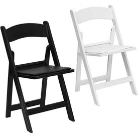 Resin Folding Chairs with Vinyl Padded Seat