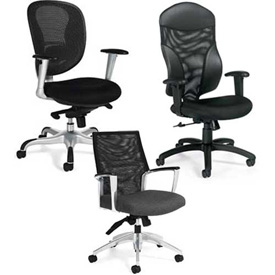 Global™ & Offices To Go™ - Mesh Back Chair Collection