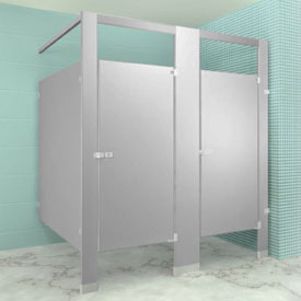 Metpar Overhead-Braced Polymer Bathroom Compartments