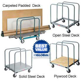 Panel & Sheet Mover Trucks - Steel, Wood or Carpeted Deck