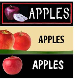 Apples Grocery Signs