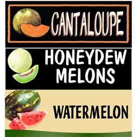 Melons Grocery Signs