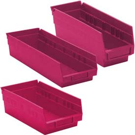 Pink Nestable Economy Shelf Bins
