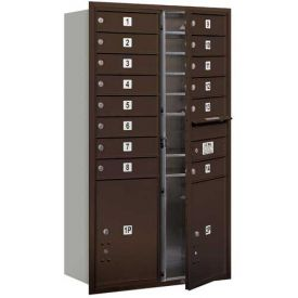 4C Horizontal Double Column Mailboxes, Front Loading, USPS Access