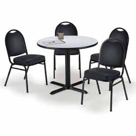 KFI - Table with 4 Stacking Chairs Set
