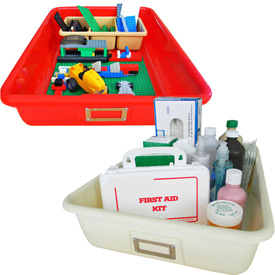 Shirley K's Solid Colored Storage Totes
