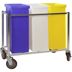 Winholt® Triple Ingredient Bin Cart