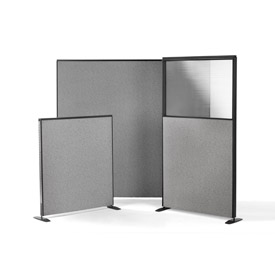 Harmony Collection - Fabric Upholstered Office Partitions With or Without Plexiglass Window