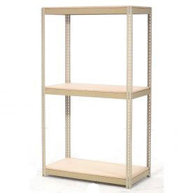 "Expandable Starter Rack 72""W x 36""D x 84""H Tan With 3 Level Wood Deck 750lb Cap Per Level"