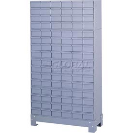 "Durham Steel Drawer Cabinet 022-95 - With 96 Drawers 34-1/8""W x 12-1/4""D x 62-1/2""H"