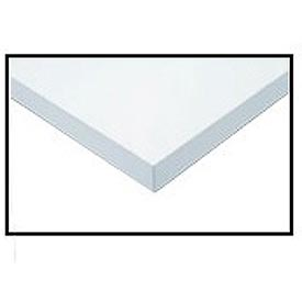 "96"" W x 30"" D x 1-1/4"" Thick, ESD Square Edge Workbench Top, White"