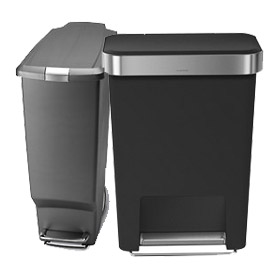 simplehuman® Plastic Step Cans