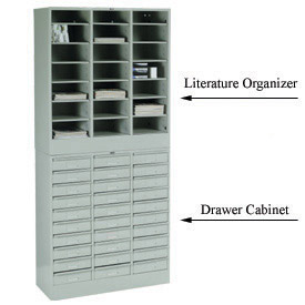 Stackable Steel Drawer Cabinets & Literature Organizer