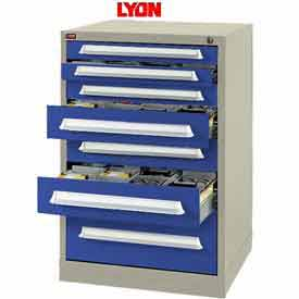 Lyon Modular Storage Drawer Cabinet PBS683030000G0 Full Height, Putty/Blue