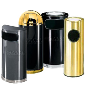 Designer Metal Ash & Trash Receptacles