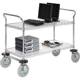 Nexel® Chrome Wire Shelf Instrument Carts