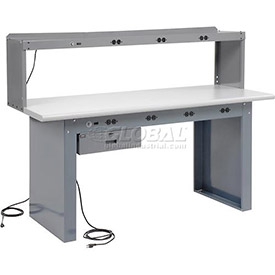 Panel Leg Workstation with Power Apron