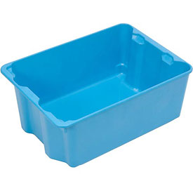"Molded Fiberglass Nest and Stack Tote 780108 with Wire - 42-1/2"" x 20"" x 14-1/4"", Pkg Qty 5, Blue - Pkg Qty 5"