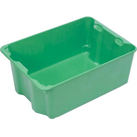 "Molded Fiberglass Nest and Stack Tote 780208 - 17-7/8"" x10""-5/8"" x 5"", Pkg Qty 10, Green - Pkg Qty 10"