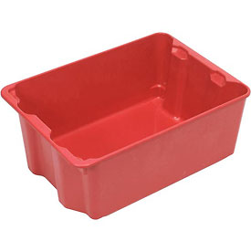 "Molded Fiberglass Nest and Stack Tote 780108 with Wire - 42-1/2"" x 20"" x 14-1/4"", Pkg Qty 5, Red - Pkg Qty 5"