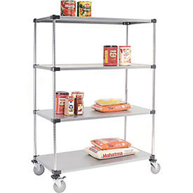 Nexel® Galvanized Shelf Truck 60x24x80 1200 Pound Capacity With Brakes