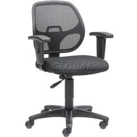 Interion™ Mesh Back Task Chair with Adjustable Seat and Armrests
