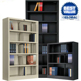 Interion® Quick Adjust All Steel Bookcases - KD - 36