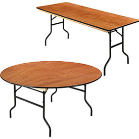 Interion® Heavy Duty Plywood Folding Banquet Tables