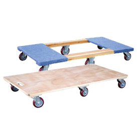 Vestil 6-Wheel Wood Deck Movers Dollies