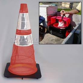 Quick Deploy Spring Cone™ Traffic Cones