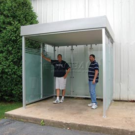 Deluxe Flat Roof Smoking Shelters