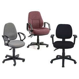 Interion™ - The Fabric Synchro Chair - Choice Of Optional Armrests