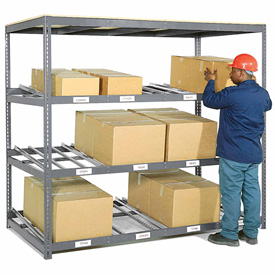 "Carton Flow Shelving Single Depth 3 LEVEL 96W"" x 36""D x 84""H"