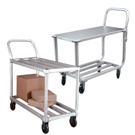 New Age Light Duty Tubular Aluminum Stock Carts