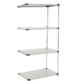 36x18x74 Stainless Steel Solid Shelving Add-On