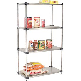 36x24x63 Stainless Steel Solid Shelving