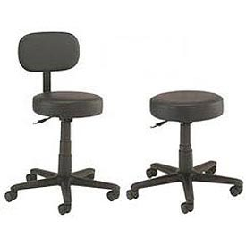 Interion® - All Purpose Vinyl Stools With Black Base