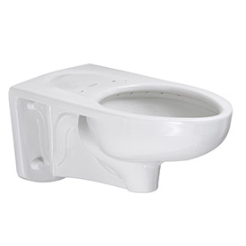 American Standard Low Flow 3353101.020 Elongated Flush Valve Toilet W/Everclean, 1.1 - 1.6 GPF