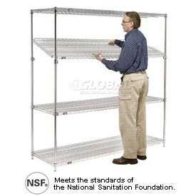 Nexel® Quick-Adjust Chrome Wire Shelving
