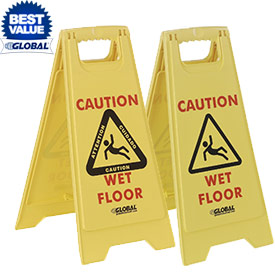 Global™ Wet Floor Caution Signs