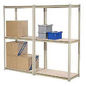 "High Capacity Add-On Rack 96""W x 24""D x 96""H With 3 Levels Wood Deck 800 Lb Cap Per Level"