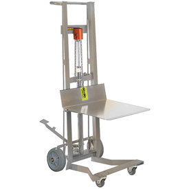 Wesco® Stainless Steel Foot Pedal Lift Trucks